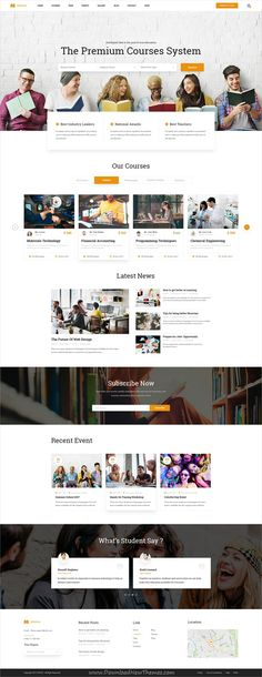EDUCA is clean and modern design #PSD template for online #courses and #education institutes website with 21 layered PSD pages download now