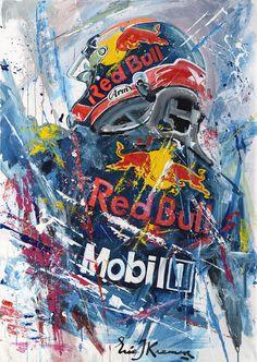Eric Jan Kremer is a world famous Formula 1 and MotoGP artist. He painted Max Verstappen, Lewis Hamilton, Ayrton Senna, Valentino Rossi and many more. Red Bull F1, Red Bull Racing, F1 Racing, Drag Racing, Fox Racing Logo, F1 Wallpaper Hd, Car Wallpapers, Motorcycle Art, Bike Art