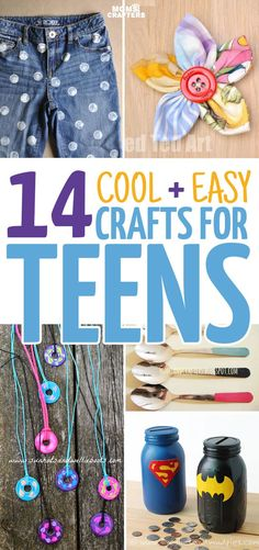 you'll just love these 14 cool crafts for teens to make from some of my favorite bloggers out there! These teen crafts are way to cool and are also quite easy to make. You'll find easy craft tutorials and DIY ideas, jewelry making projects, paper crafts,