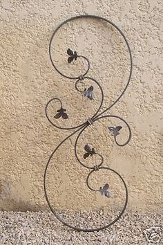 Wrought iron decor black future mrs duranleau for Decoration fer forge mural