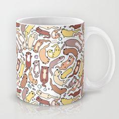 Adorable+Otter+Swirl+Mug+by+KiraKiraDoodles+-+$15.00