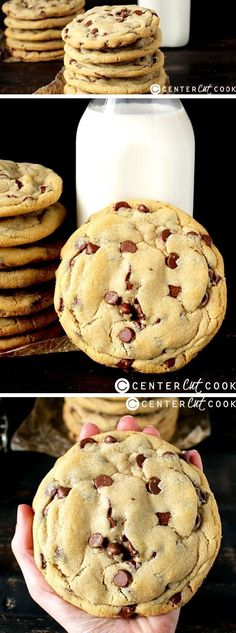 These JUMBO CHOCOLATE CHIP COOKIES are easy, delicious, and the perfect indulgence!