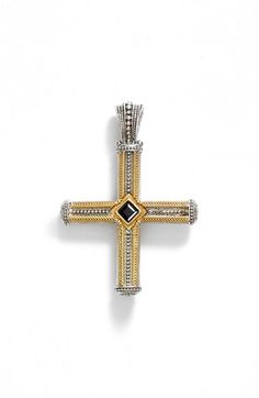 Konstantino 'Orpheus' Semiprecious Stone Cross Pendant