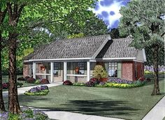 House Plan 62386 | Cottage   Country   Ranch    Plan with 1100 Sq. Ft., 3 Bedrooms, 2 Bathrooms