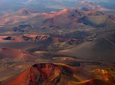 """Lanzarote, Luftaufnahme Naturschutzgebiet """"Timanfaya"""""""