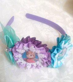 NEW Snowflake Anna and Elsa Headband by SweetandCuteBows on Etsy