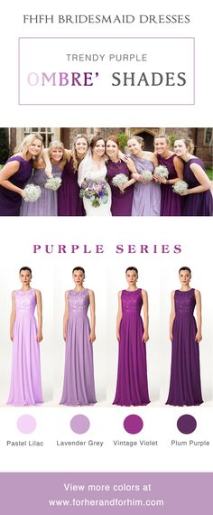 Amazing trendy purple bridesmaid dresses from FHFH! Huge spring sale is going on! Check it out!!!