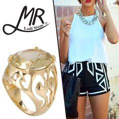 Faça seu look ficar mais fashion e sofisticado com as joias da MR Lodi Stone. Confira na Adoro Presentes. #AdoroPresentes #Moda #Fashion #Ideias #MRLodiStone #Look #Joias #Anel