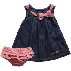 baby girl dresses, simple and bursting by using exciting colours and charming styles. Girls Denim Dress, Little Dresses, Little Girl Dresses, Girls Dresses, Toddler Dress, Toddler Outfits, Kids Outfits, Baby Outfits, Baby Girl Fashion