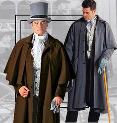 Garrick overcoat, single and multiple capes. For purchase or rental information see www.tuxedowholesaler.com