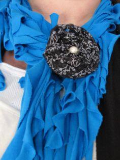 tshirt scarf with flower $15