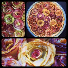Fine more pictures : Apple Roses Pie at -->www.facebook.com/MadeInElzasKitChen   more pictures and like Elza's KitCHen ;-) Apple Rose Pie, Apple Roses, Gimme Some Oven, Ratatouille, Brunch, Eat, Ethnic Recipes, Facebook, Colors