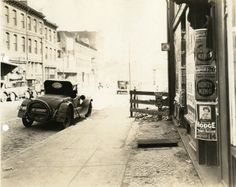 View of sidewalk in front of 2658 Olive Street. (1927) Missouri History Museum