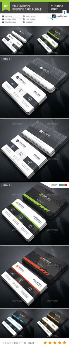 Business Card Bundle Templates PSD. Download here: http://graphicriver.net/item/business-card-bundle/16091954?ref=ksioks