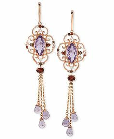 Le Vian 14k Rose Gold Earrings, Multistone Dangle Earrings - SALE & CLEARANCE - Jewelry & Watches - Macy's