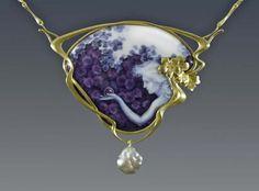 """eyesaremosaics: """" """"Crystal gazer"""" Brooch/Pendant by Larissa Enamels - Enamel,18k gold """""""