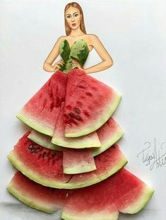 Fashion Illustrator Creates Gorgeous Dress Designs Using Everyday Objects. Design artist Edgar Artis uses adapted patterns items to make lovely dresses. Moda 3d, Arte Fashion, 3d Fashion, Fashion Design Drawings, Fashion Sketches, Fashion Illustration Dresses, Fashion Illustrations, Art Illustrations, 3d Mode