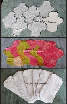 DIY easy Sanitary napkins washable with velcro step by step in photos - DIY easy Sanitary napkins washable with velcro step by step in photos – Oska & Co Créations - Diy Bralette, Reusable Menstrual Pads, Old Bras, Sanitary Napkin, Cloth Pads, Pattern Drafting, Love Sewing, Sewing Projects For Beginners, Cloth Diapers
