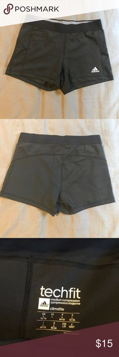 Adidas Workout Shorts VEUC. ADIDAS compression shorts. Black. 8in front rise.  3 1/2in inseam. adidas Shorts
