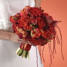 Red Winter Wedding Flowers - The Wedding SpecialistsThe Wedding Specialists