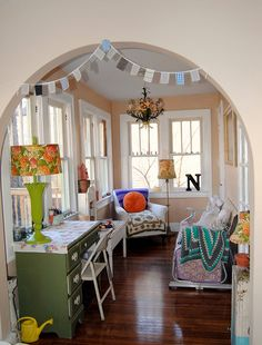 lower level sunroom by confetti garden- nicole hill, via Flickr
