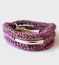 Though it might sound similar to pearl bracelet, this purl bracelet is significantly more awesome and less ocean-y. For starters, each one is carefully knit (by hand!) from merino wool yarn, then accented with silver plated beads. Voila! A knitted accessory that's not a scarf.
