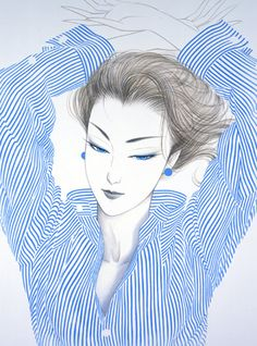 Ichiro Tsuruta Kumamoto, Amakusa, Japanese Drawings, Japanese Artists, Amazing Drawings, Art Drawings, Pin Up, Love Illustration, Creative Portraits