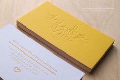 RockDesign.com | Letterpress Business Cards → http://www.rockdesign.com/Letterpress-Business-Cards