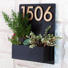 Urban Mettle Madness Wall Address Plaque Font Color: Brass, Plaque Color: Rust, Customize: Yes House Address Numbers, Address Plaque, House Numbers, House Number Plaques, Contemporary Fonts, Sweet Home, Colorful Succulents, Home Garden Design, Metal Hangers