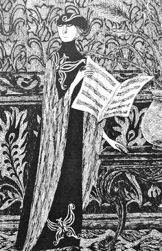 Edward Gorey - love his illustrations. Edward Gorey, Tim Burton, John Kenn, Illustration Art Nouveau, Alice Book, Victorian Wallpaper, Art Simple, Johannes Vermeer, Up Book