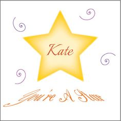 you're a star personalised card