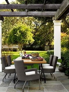 Gorgeous Outdoor Dining Room Patio Design