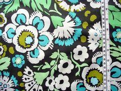 wunderschöner Baumwoll/Patchworkstoff von AMY BUTLER  in khaki/grün/türkis/weiss/lime  ca 1,10m Breite  USA;100% Baumwolle....  Ideal für Quilts,Kisse