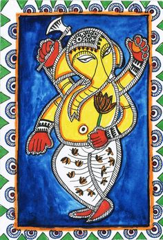 These are illustrations inspired by Madhubani painting--a folk art from India Ganesha Painting, Madhubani Painting, Ganesha Drawing, Shiva Art, Shiva Shakti, Elephant Coloring Page, Kalamkari Painting, African Art Paintings, Painting Templates