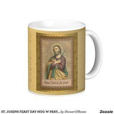 ST. JOSEPH FEAST DAY MUG W PRAYER