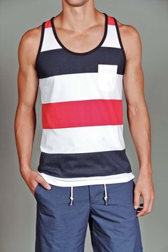 Goodale Striped Tank Top