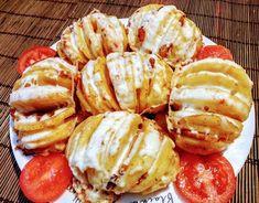 Fűszeres-sajtos töltött burgonya Meat Recipes, Gluten Free Recipes, Chicken Recipes, Cooking Recipes, Bread Dough Recipe, Hungarian Recipes, Veggie Dishes, Sweet And Salty, Fimo
