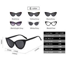 095d18f3ad0e7 JOJOS SECRET Super Cat Eye Sunglasses For Women Retro Plastic Frame Clear  Lens Eyewear JS029 Black