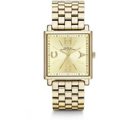 Marc by Marc Jacobs Goldtone Stainless Steel Square Watch $250