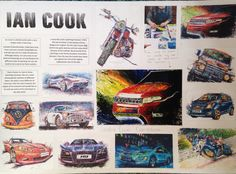 Artist reference of Ian Cook - unique automotive artist who uses car tyres to paint pictures