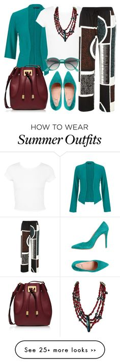 """""""White t-shirt"""" by depolo-marina on Polyvore featuring maurices, Miss Selfridge, River Island, Michael Kors, Ray-Ban, RiverIsland and whitetshirt"""