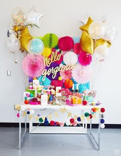 How to create a party inspired by the Thimblepress collection - Think. - How to create a party inspired by the Thimblepress collection… - Party Fiesta, Festa Party, Party Animals, Animal Party, Ballon Party, Party Mottos, Decoration Evenementielle, Photos Booth, Colorful Party