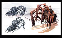GOW Digger by James Hawkins on ArtStation. Monster Design, Monster Art, Alien Creatures, Fantasy Creatures, James Hawkins, Gears Of War 3, Character Art, Character Design, Fallout Art