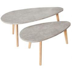 Set odkládacích stolků Concrete, beton