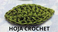 Hoja Nº 1 en tejido crochet tutorial paso a paso.