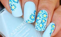 Image result for light blue nail designs #springnaildesigns