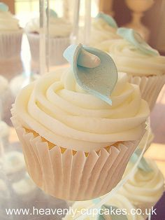 Baby Blue Calla Lily Cupcake