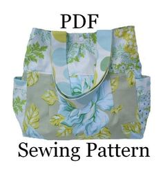 This is a gorgeous, lightweight tote or shoulder bag which was designed with Heather Baileys Nicey Jane fabrics. The perfect addition to your summer wardrobe, for everyday use or special events. Would also make a great gift for someone special.  http://patternpile.com/sewing-patterns/nicey-jane-summer-tote-bag-sewing-epattern