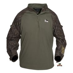 Men's, Shirts and Tops, Pullovers, 1/4 Zip Utility Shirt  BANDED