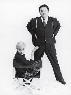 Federico Fellini  Giulietta Masina  #GiuliettaMasina #actress #italian #neorealism #cinema  #fellini